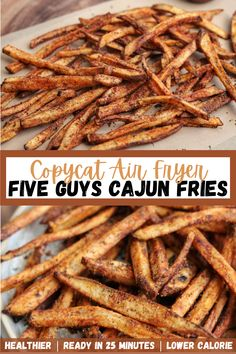Homemade Cajun Seasoning, Homemade Fries, Homemade French Fries, Five Guys Cajun Seasoning Recipe, Air Fryer Fries, Air Fryer French Fries, Air Fryer Dinner Recipes, Air Fryer Recipes, Season Fries Recipe