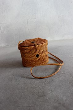 Vintage Basket Purse Small Structured Cross Body Small Handbag. $38.50, via Etsy.