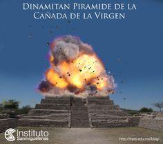 Secretos de San Miguel de Allende, Guanajuato. Dinamitan piramide en la Cañada de la Virgen. Desktop Screenshot, San Miguel De Allende, Guanajuato