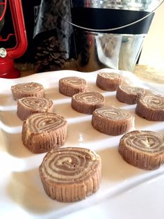 Peanut Butter Chocolate Fudge Logs for a Woodland first birthday party. So delicious and cute!