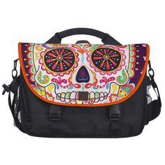 Cool Sugar Skull Art Laptop Bag Commuter Bag