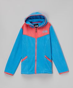 Look at this Turquoise Blue Polar Fleece Zip-Up Hoodie - Girls on #zulily today!