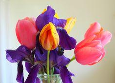 couleurs et mixed media: Mes bouquets du dimanche