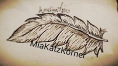 download picture feather ink on paper 2 copies by MiaKatzKorner