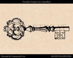 ANTIQUE KEY CLIPART Commercial Use Ok Antique by ClipArtBrat