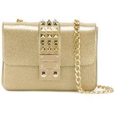 Designinverso 'Amalfi' crossbody bag ($82) ❤ liked on Polyvore featuring bags, handbags, shoulder bags, grey, gray cross body purse, metallic handbags, grey handbags, grey crossbody and crossbody shoulder bag