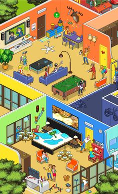 Some pixels 2 Isometric Art, Isometric Design, Game Character Design, Game Design, City Illustration, Digital Illustration, Habbo Hotel, 3d Pixel, Pixel Art Games