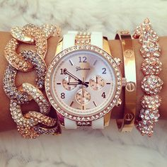 Arm Candy! Classy and beautiful! I would love to wear this on my wrist/arm with tons of outfits to work.