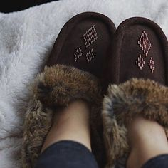 Manitobah Mukluks // Street Mocassins Beadwork, Beading, Canadian Winter, Cozies, Rabbit Fur, Fur Trim, Moccasins, Slippers, Women's Fashion