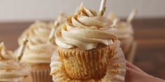 These Rumchata Cupcakes from Delish.com take cupcakes to a whole new level.