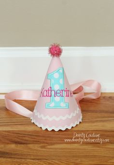 Girl First Birthday Hat  Custom Birthday Party by DaintyCouture, $25.00