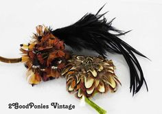 Vintage Hat Supplies  Feathers by 2goodponiesvintage on Etsy, $24.00