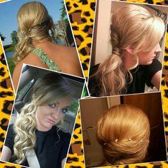 Prom hair side ponytail