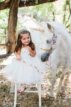 A dream come true! www.AllGodsCreatures.net Unicorn photo shoots~ animals for photo shoots