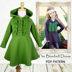 Childrens sewing pattern PDF, Girls dress pattern, Children Kids, baby sewing pattern, Instant download, The Bluebell Dress. Need this.