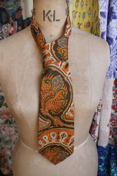 Silk Jonelle Kipper Tie by CherryPickedChic on Etsy