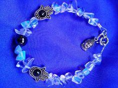 Moonstone Hand of Hamsa Bracelet by Sacredlightenergy on Etsy, $12.00