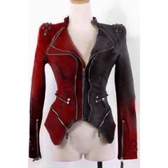 split leather jacket| $46.61 harley quinn batman harley cosplay costume halloween fachin punk jacket top free shipping dresslily