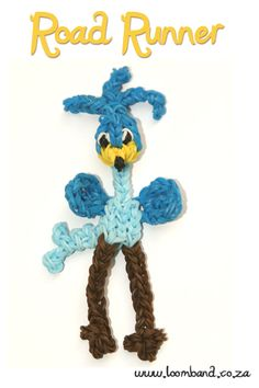 Road runner loom band figurine tutorial - Loomband