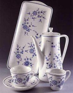 Sada na čaj • modro bílý porcelán