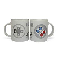 2-Player Gaming Mug Set #gaming #gameboy #fancymug #gray #mug