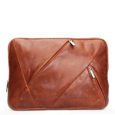 dfd88d8665d BRUNE Unisex  Tan Color 100% Genuine  Leather  Laptop Bag Affordable Laptops
