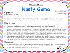 Teaching Maths with Meaning: Math Game Monday time!