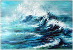 """""""wild ocean"""" acrylic on canvas"""