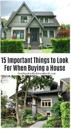 15 Important Things to Look For When Buying a House, Home Buying Tips Home Renovation, Home Remodeling, Looking For Houses, Home Buying Tips, White Picket Fence, Sell Your House Fast, Expensive Houses, Green Lawn, First Time Home Buyers