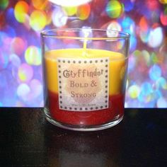 Gryffindor scented 4 oz candle: bold and strong