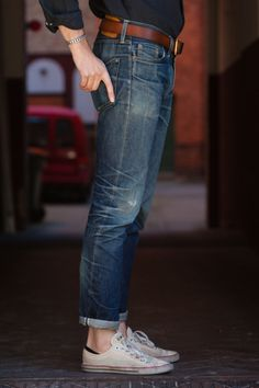 http://chicerman.com  billy-george:  The perfect pair of jeans  #streetstyleformen