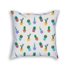 This pillow maybe look thorny and spikey, but it's actually soft! Give your cactus pillow a hug! Our throw pillows are 100% made--cut, sewn, and printed--in California. PILLOW DETAILS *18x18 inches *8
