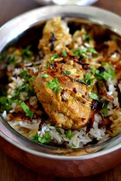 Chicken Dum Biryani: This dish takes overnight prep and about 2 hours of cooking and resting time, so if you are in a hurry, do not attempt this biryani. However, the process of making this exquisite dish is quite easy and the end result is literally, fit for royalty. Just the thing for a lazy weekend lunch…