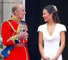 4/29/2011: Prince Phillip, Duke of Edinburgh & Pippa Middleton on the Royal Balcony following the Royal Wedding