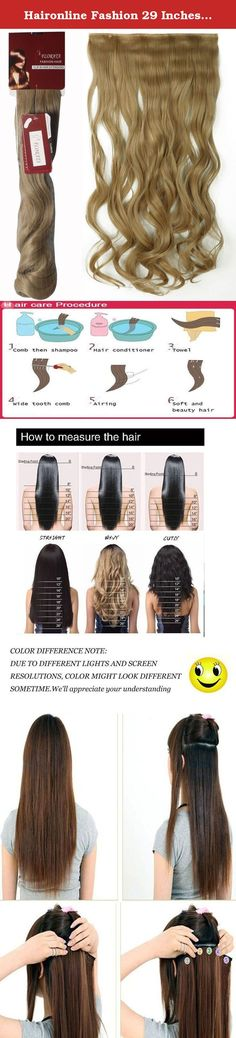 Haironline Fashion 29 Inches Curly 3/4 Full Head One Piece 5clips Clip On/in Hairpieces Hair Extensions 12 Colours - Ash Blonde. About seller: We offer high quality hair extensions.tangle free,silky soft. Premium quality clip in hair extensions with hair volume to make up your head, or to add extra volume and length all over. The hairs are silky and soft, Grade A, specially selected for American market. 100% Brand new and high quality Material: Synthetic Fiber, just clip it on hair…