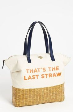 kate spade new york 'call to action - terry' canvas tote available at #Nordstrom