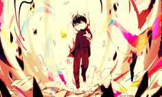 """temmiechang: """" Mob Psycho 100 fanart"""" [awesome fanart! Check the original person responsible for this masterpiece! ]"""