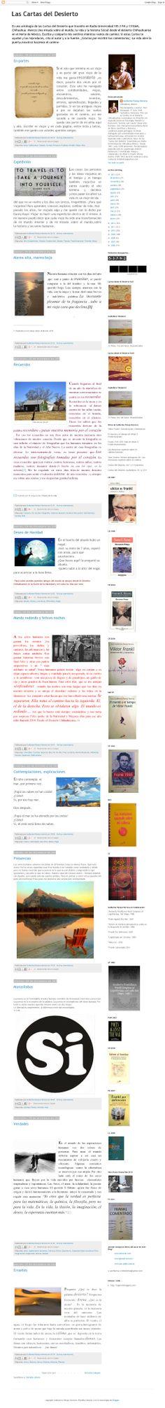 The website 'lascartasdeldesierto.blogspot.com' courtesy of @Pinstamatic (http://pinstamatic.com)