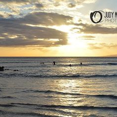 """Sunset Surfers"" by Judy M Tomlinson Photography. Visit my website at http://www.judymtomlinsonphotography.ca/ #scenic #landscape #londonontariophotographer #printsforsale #maui#sunset"