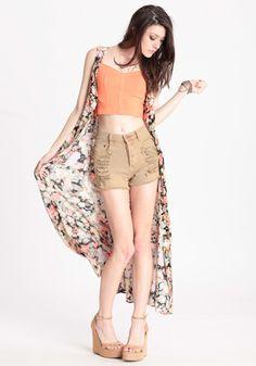 Runaway Desert Slashed Shorts by MINKPINK #threadsence #fashion #musicfestival