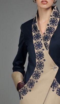 Details from the Carousel Wrap Coat  MAISON MURASAKI Fall Winter 2012