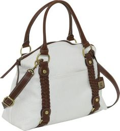 Aurielle-Carryland Braided Detail Satchel White - via eBags.com!