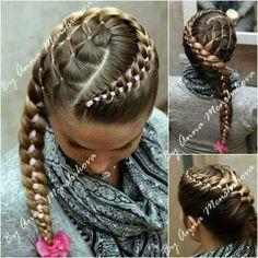 Criatividade é tudo   #tranças #penteados