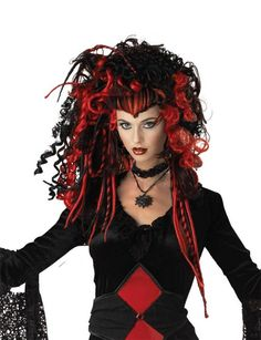 Lilith Fairy Wig Gothic Rave Anime Dress Up Halloween Adult Costume Accessory