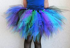 Peacock Pixie Tutu  For Teens Preteens or Adults  by TiarasTutus, $70.00