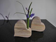 Deko-Objekte - Steinherz - Herz-Blumenvase - indischer Sandstein - ein Designerstück von SuSeBilder bei DaWanda