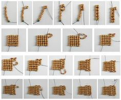 """The Corset Stitch, with little """"ears"""" at the corners"""