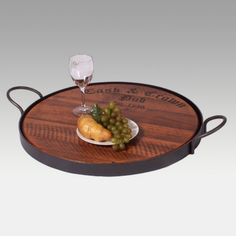 2 Day Designs Reclaimed Wine2Night Cask & Crown Serving Tray