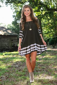 No Other Way Tunic-Olive - New Today   The Red Dress Boutique