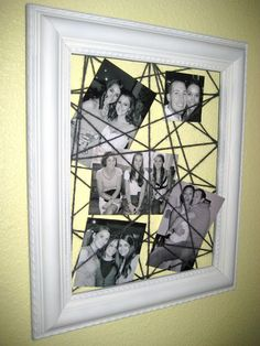 A framed picture web is fin DIY art for any room!